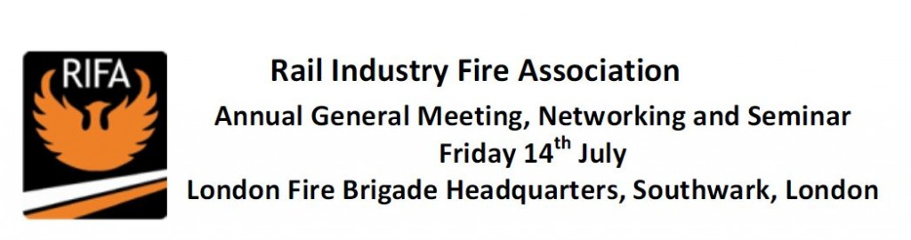 Rail Industry Fire Association ANNUAL MEETING
